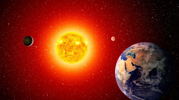 The sun is 93 million miles away from Earth and is almost 5 billion years old