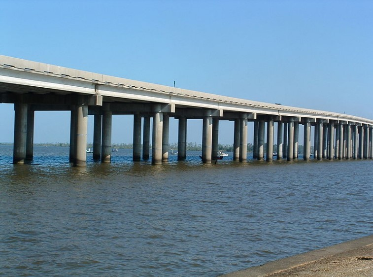 The Manchac Swamp Bridge in Louisiana