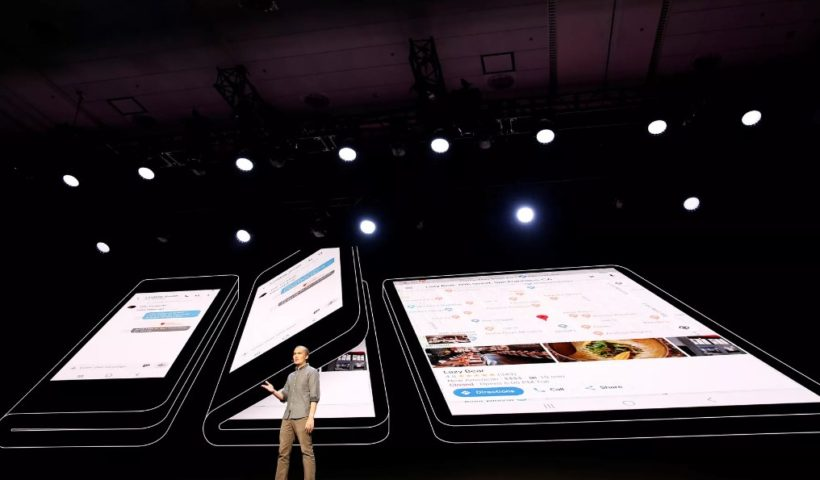 Samsung Unveils Foldable Phone at the Conference in California