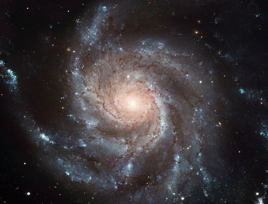 An example of a spiral galaxy,