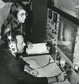 Margaret Hamilton at MIT during the Apollo 11 mission.