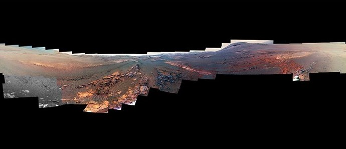 Last Image of Mars Opportunity Rover Sent