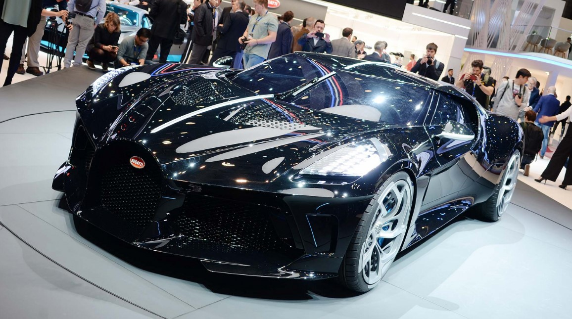 Bugatti has unveiled the most expensive new car ever built at the Geneva Auto Show