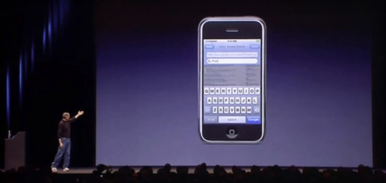 The original iPhone was introduced by Steve Jobs at the Macworld Conference & Expo held in Moscone West in San Francisco, California