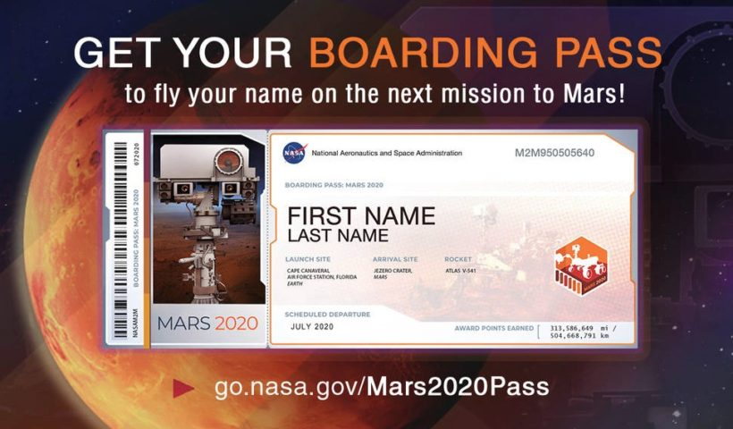NASA Invites Humans to Send Their Names to Mars