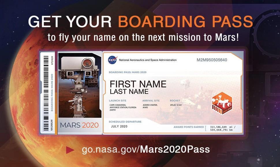 NASA Invites Humans to Send Their Names to Mars