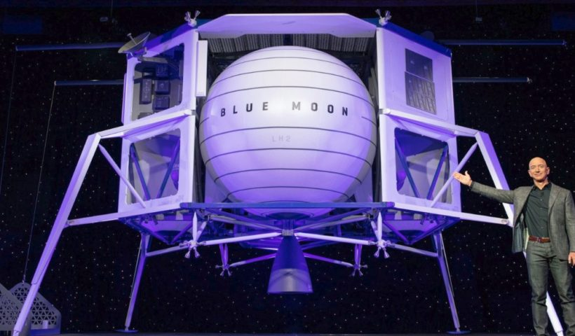 Amazon Founder Jeff Bezos Builds Moon Ship