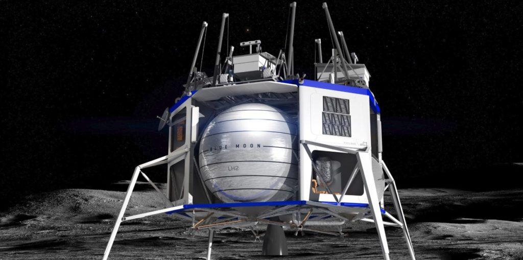Amazon Founder Jeff Bezos Builds Moon Ship