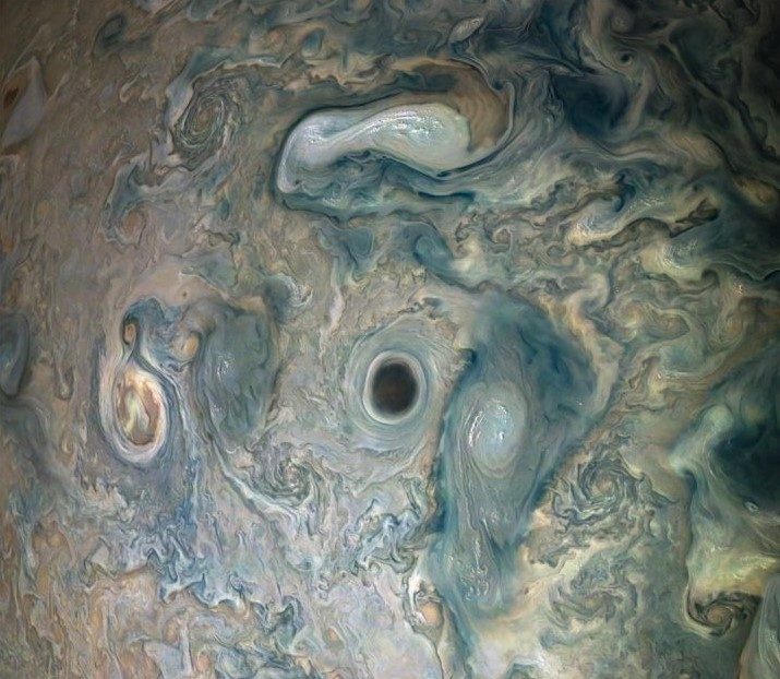 Juno Spacecraft Has Captured This Color-Enhanced Image