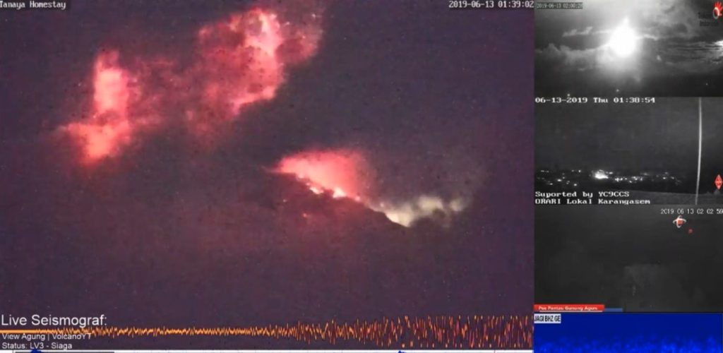 Indonesia Sinabung Volcano Erupted
