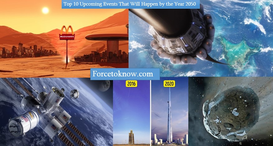 Top 10 Upcoming Events That Will Happen by the Year 2050