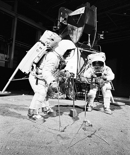 Two members of the Apollo 11 lunar landing mission