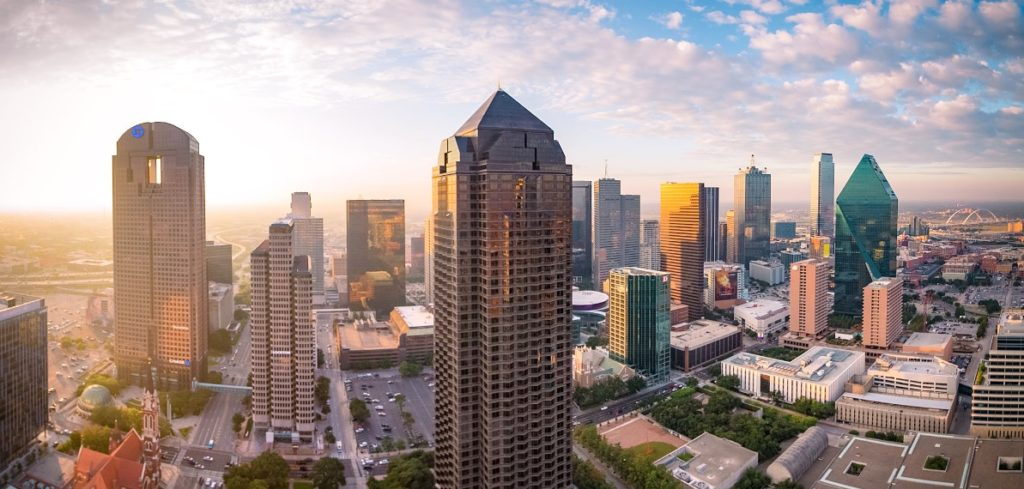 Dallas, a modern metropolis in north Texas
