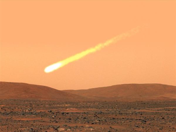 Comet C2013 A1 hit mars