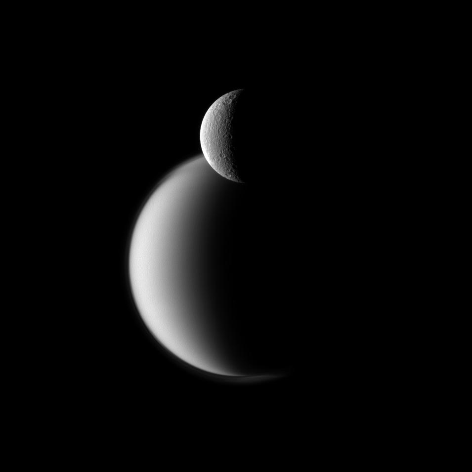 Rhea and Titan