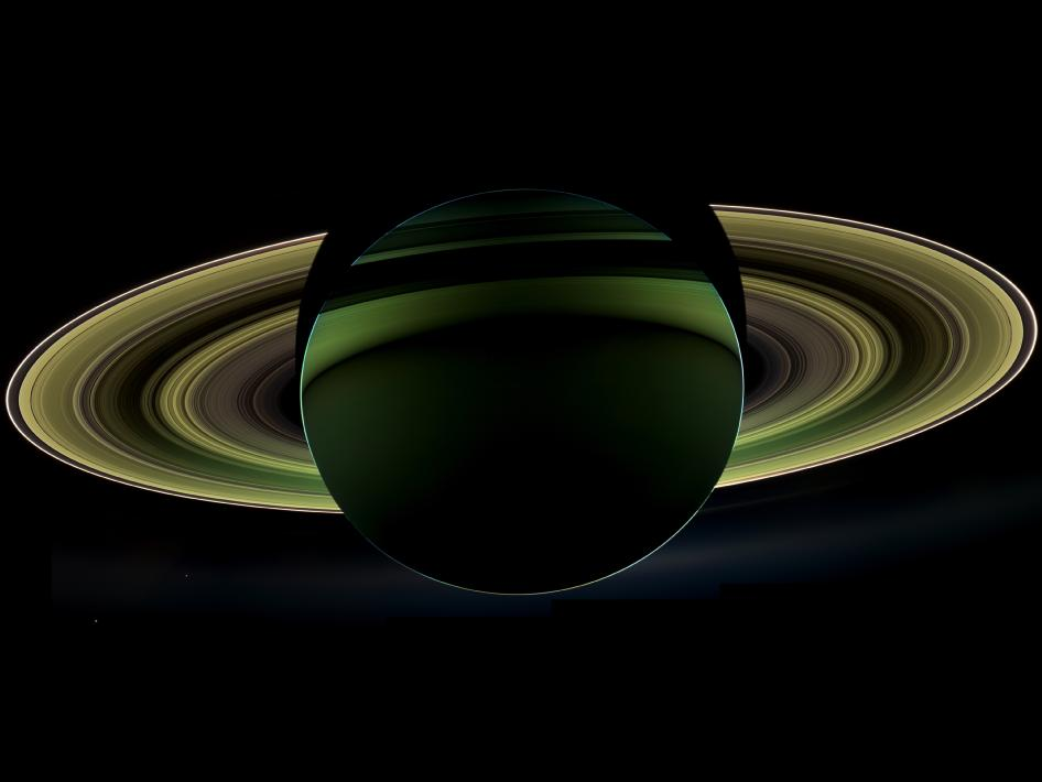 View of Saturn From Cassini Spacecraft